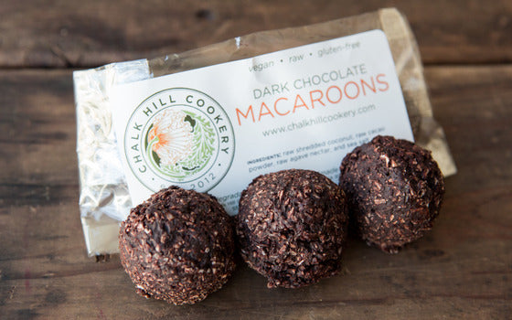 Dark Chocolate Macaroons, 3pk, gluten-free/raw/vegan