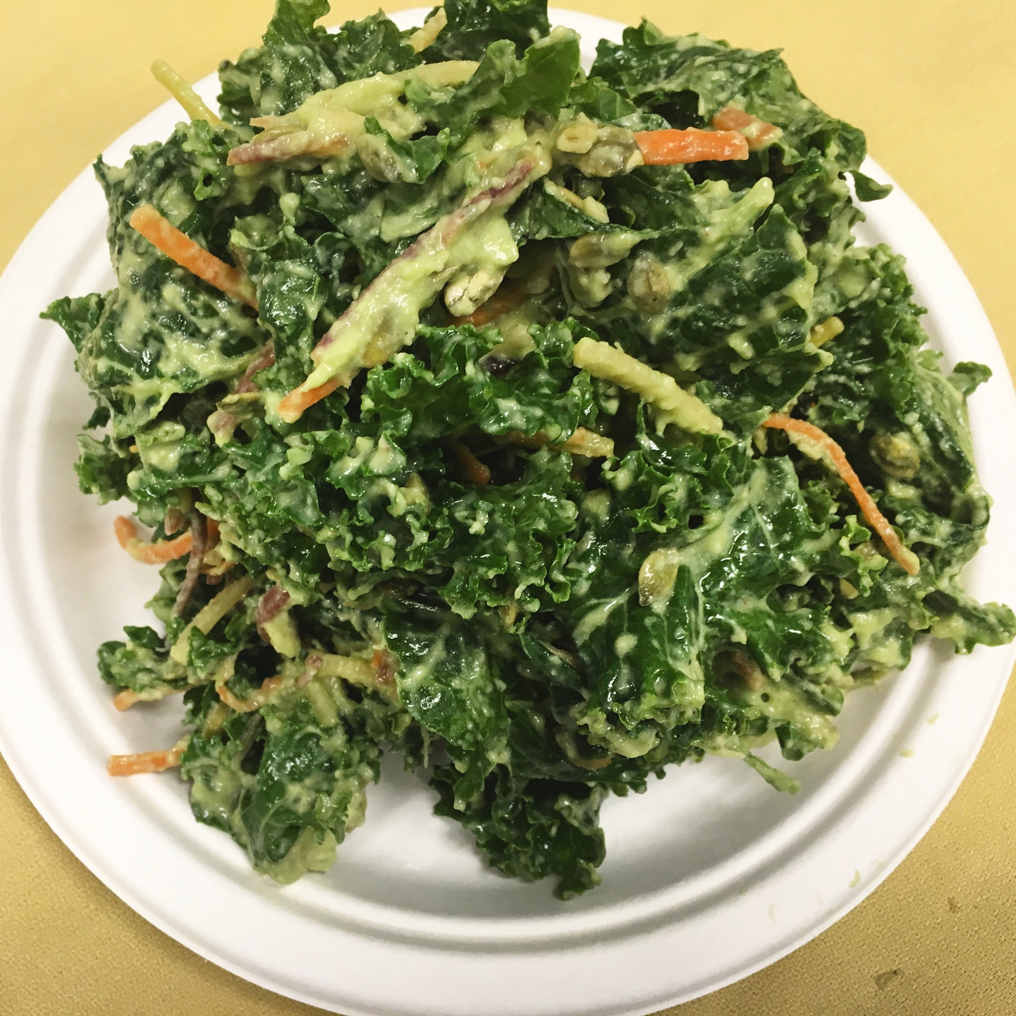 Salad - Kale Avocado Salad, gluten-free/raw/vegan