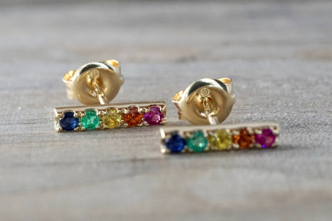 Joy Sapphire Bar Earrings
