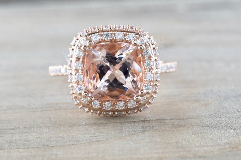 Penelope Cushion Morganite
