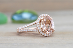 Payment Plan of Ava Morganite Oval Cut Halo Ring