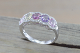 Multi Colored Sapphire 5 Gemstone Diamond Halo Ring ASPBR010068