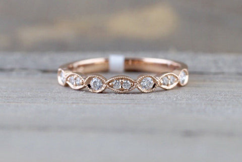 Marquise and Round Shape Diamond Band