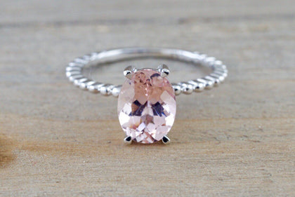 Morganite Bead Ring