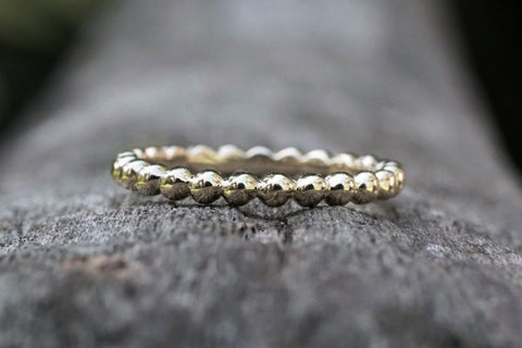 Gold 2mm Bead Ball Eternity Band
