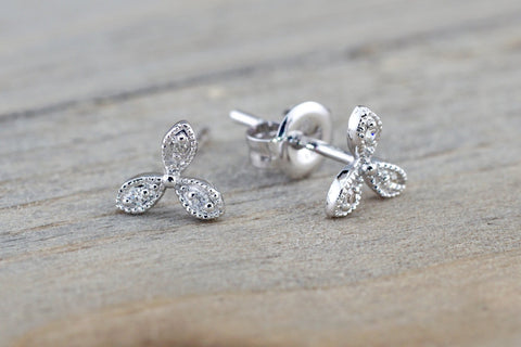 Floral Petal Diamond Earrings