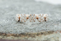 18k Rose Gold Diamond Anniversary Band Promise Ring