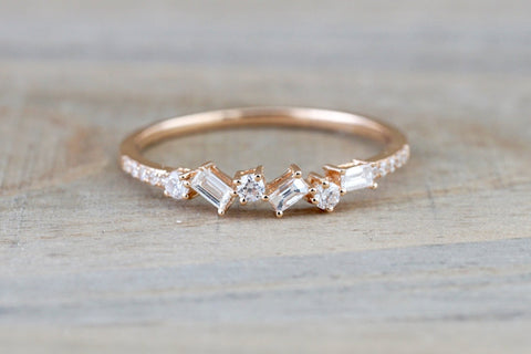 Payment Plan Round and Baguette Diamond Band