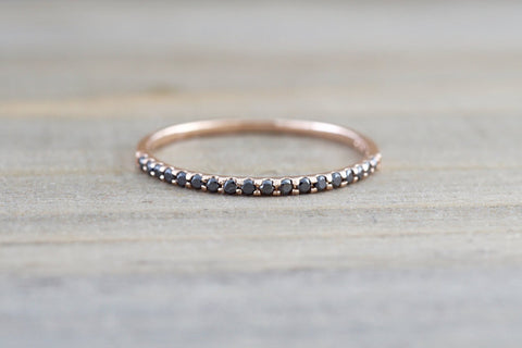 Pave Black Diamond Band
