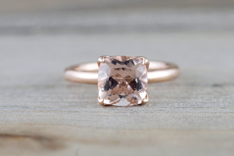 Cushion Morganite Tulip Ring