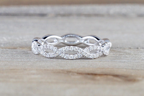 Infinity Forever Eternity Crossover Diamond Ring ASPBR010052
