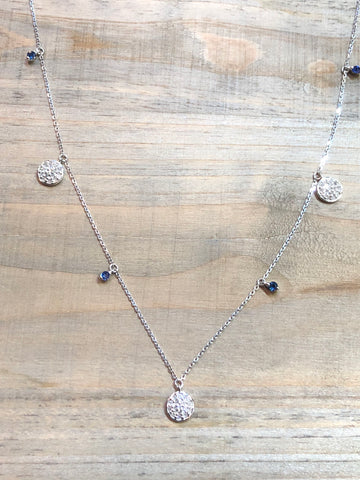 14k Rose Gold  Diamond Dangling Necklace Choker Pendant