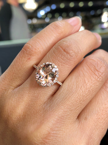 Rebecca Oval Morganite 11x9mm ASPER1430040