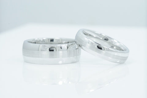 His and Hers Cobalt Engagement Rings Bridal Wedding Bands Matching set