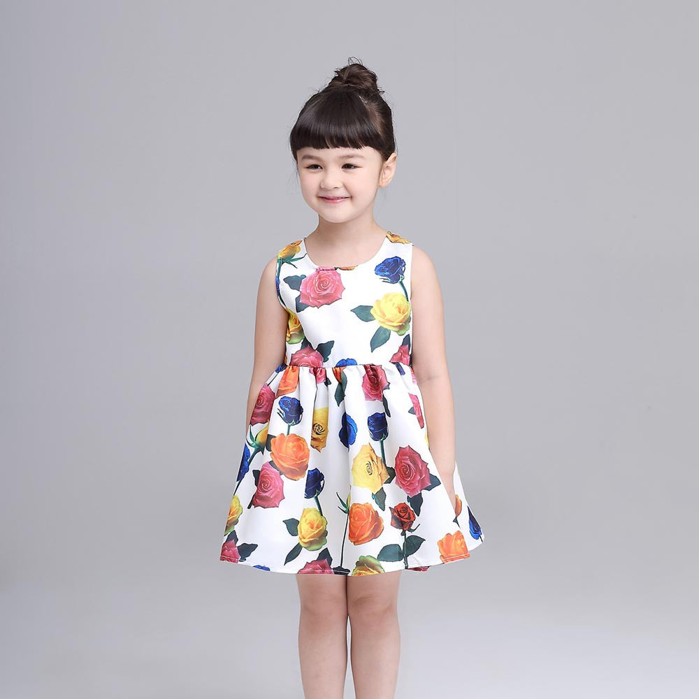 2016 Summer Kids Dress Princess Girl Dress For Party Costume For Girls Dresses Children Clothing Rapunzel Clothes