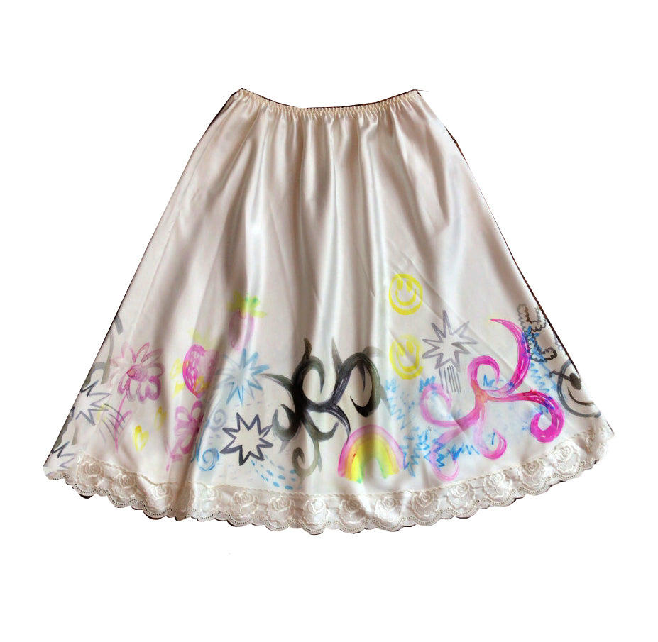 Handpainted Vintage Skirt