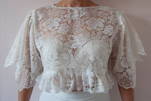 SS20 Mother Of Pearl Butterfly Top ~ UK M