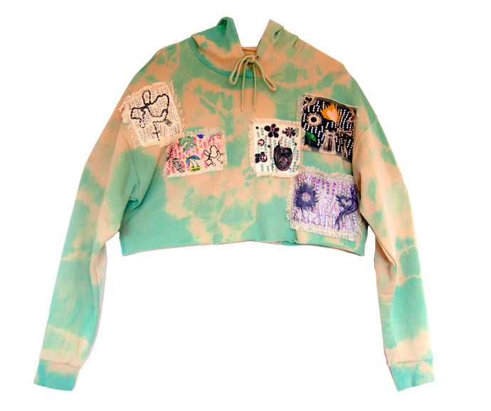 Tie~dyed Cropped Hoodie
