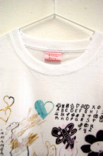 Swirly Cat & Smiley Heart *Limited Edition* ~ Linen Ruffle Cropped Cotton T-Shirt