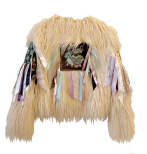 IceCream Faux Fur Ribbon Patch Jacket