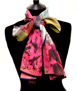 The Ghost Of You & Me~ Georgette Long Printed Scarf ~ 2018 Collection