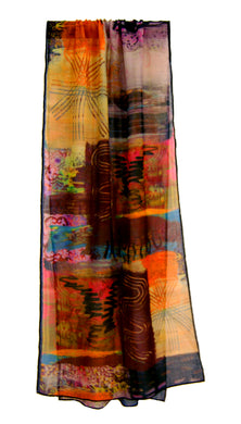 What We Learnt When We Were Young ~ Soft Muslin Long Printed Scarf ~ 2018 Collection