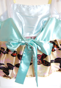Mint Satin Ribbon Peplum Top ~ Medium