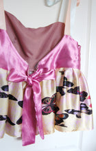 SS20 Pink Satin Ribbon Peplum Top ~ Medium