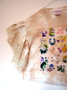 SS20 Tie Dyed Cropped Ruffle Top