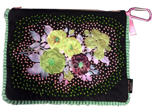 I've Never Met A Pearl Quite Like You HandMade Velvet ClutchBag (Limited Edition)