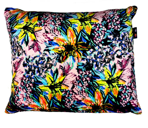 Floral Small Velvet Cushion
