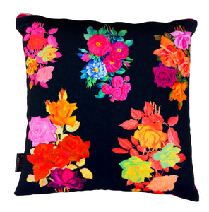 Vintage Rose HandMade Printed Velvet Cushion