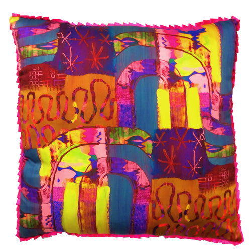 Large Pink Rainbow Floor Cushion