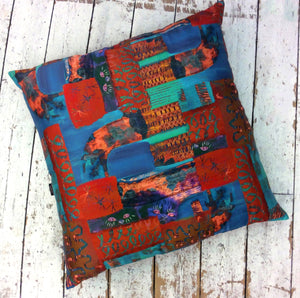 Cats Eye HandMade Printed Floor Cushion