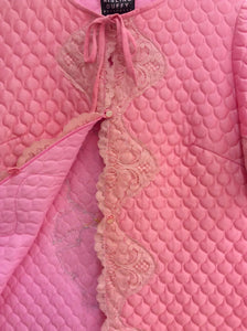 Hand Embroidered Pink Quilted Jacket