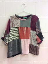 Patchwork Oversized Velvet Top