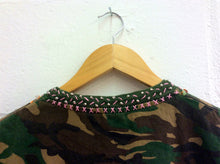 Hand~Embroidered Camo T-Shirt