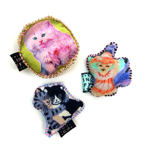 Handmade Hugging Cat PinCushion