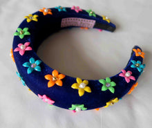 SS20 Blue Flower Velvet Headband