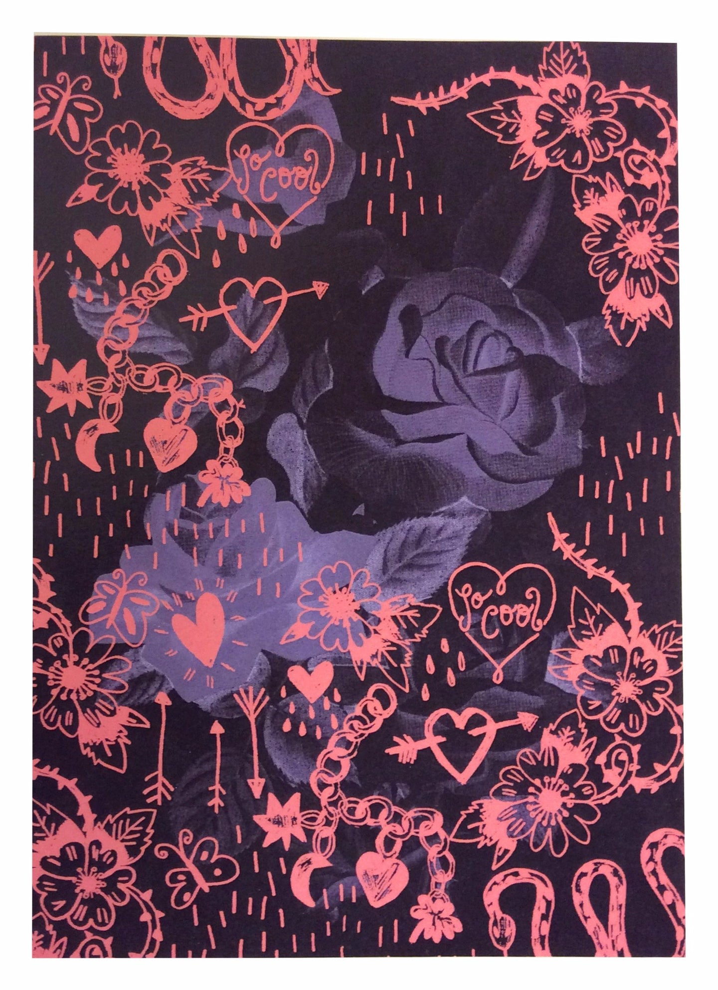 A5 So Cool Rose Art Print