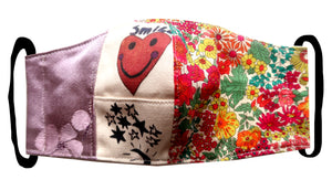 Stars & Heart Floral Collage Patchwork  ~ S/M