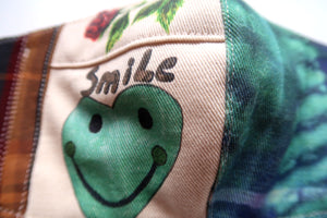Smiley TieDye Collage Patchwork  ~ S/M
