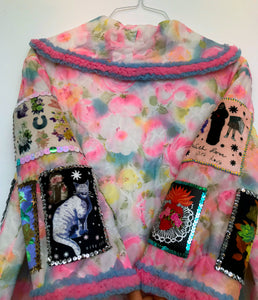 Pastel Floral Quilted Coat