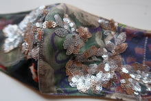 Handmade Evil Bunny & Floral Sequin  ~ S/M