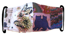 Handmade Double Headed Cat & Sequin Florals ~ S/M