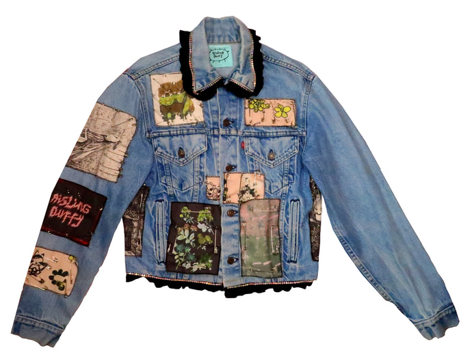 Patchwork Levi Denim Jacket ~ Small / Medium