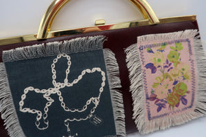Frayed Patchwork Vintage Bag