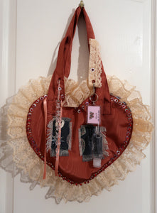 Ruby Red Ruffle Bag ~ AW20 Drop