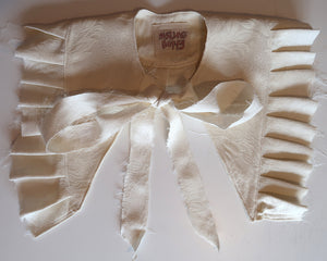 Ivory Cream Deconstructed Ruffle Collar ~ AW20 Drop
