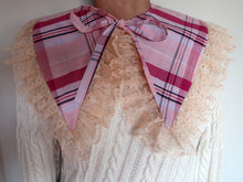 Pink Check Ruffle Collar ~ AW20 Drop